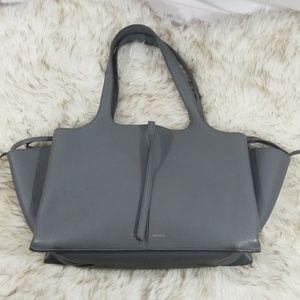 Celine Trifold Tote in Grey Soft Grain Leather